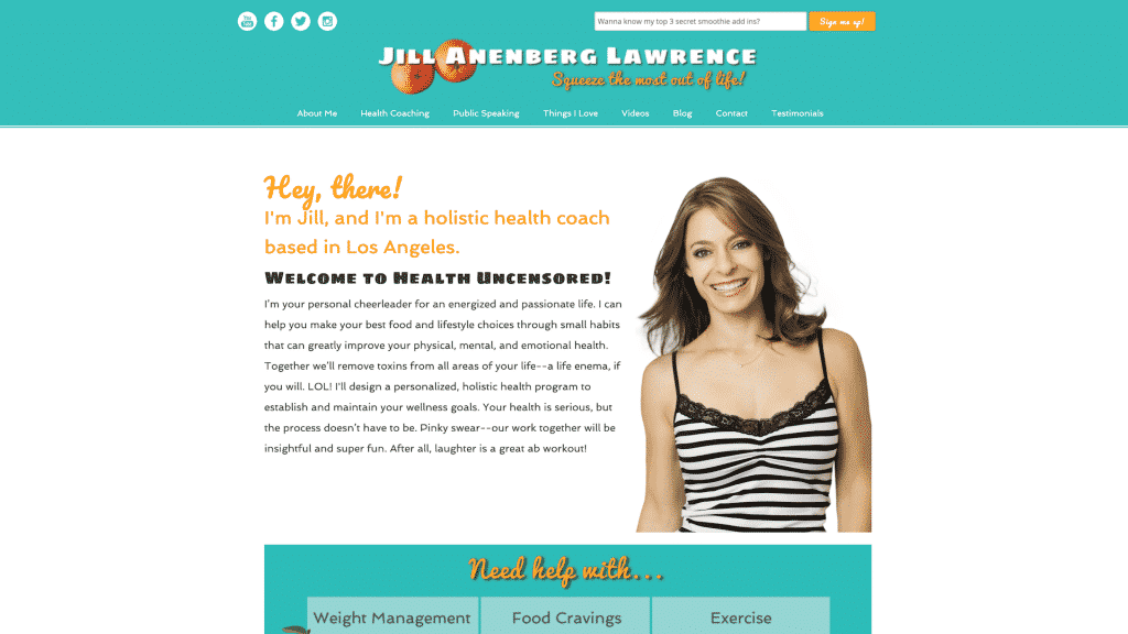 "<a href=""https://jilllawrencehealth.com"">Jill Lawrence Health</a>"