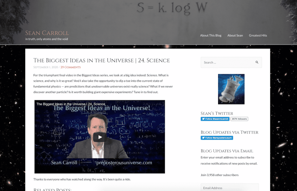 Preposterous Universe Blog