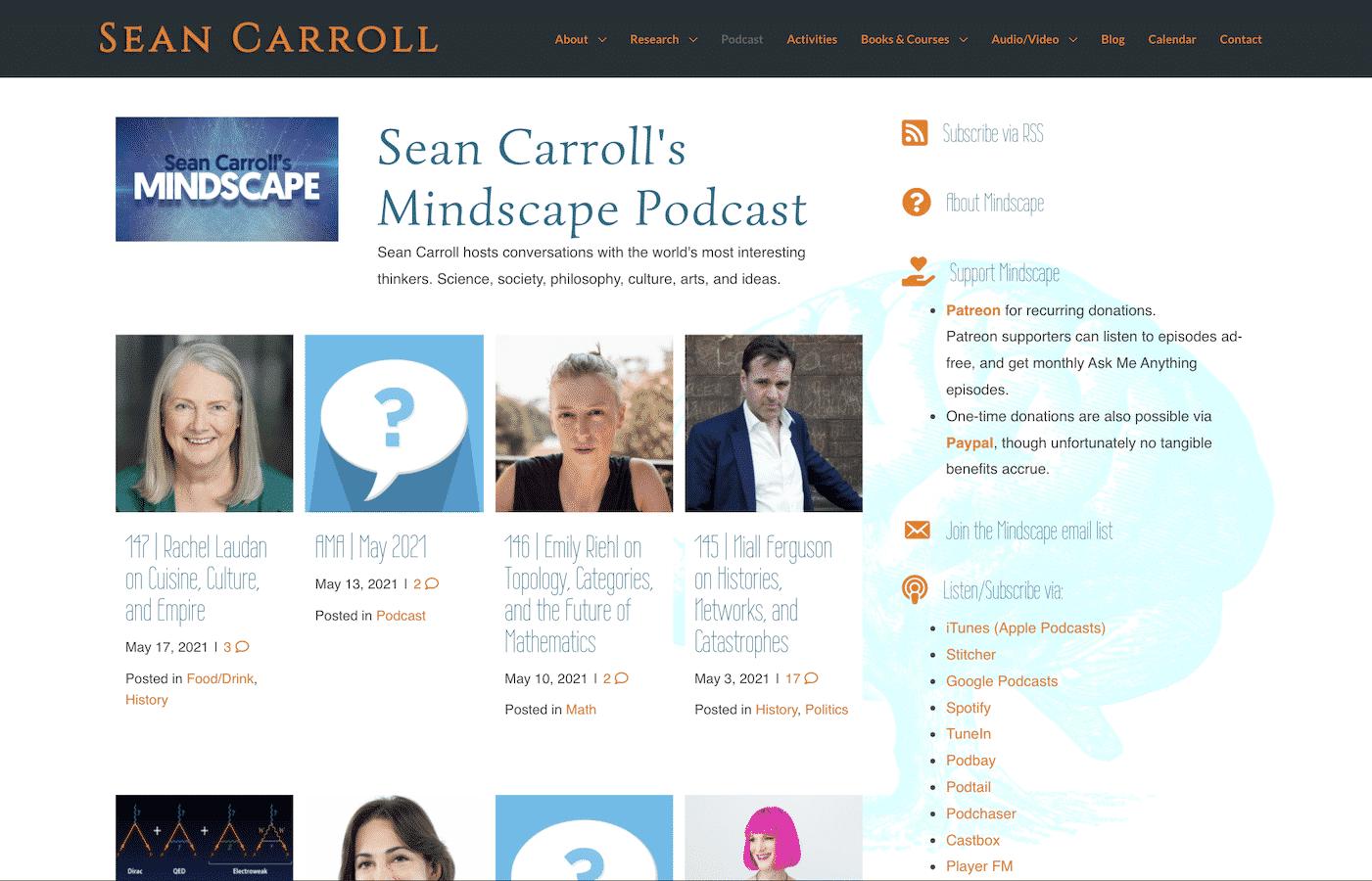 Digital Executrix_Sean Carroll's Mindscape Podcast