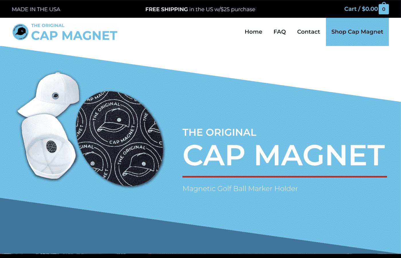 CapMagnet.com was designed by Digital Executrix